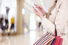 Lady holding a phone
