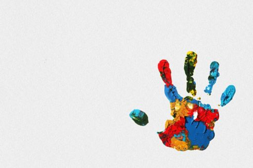 Family business - painted handprint