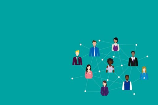 Illustration of connected people