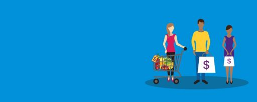 Consumers and shopping cart