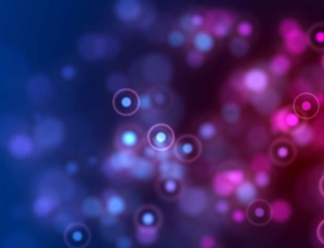 abstract blue and purple particles