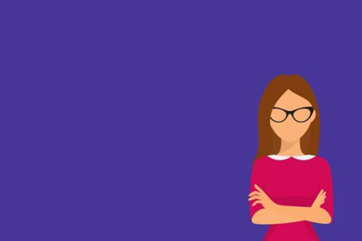 Assessing Creditworthiness in consumer credit - woman cross-armed on purple background