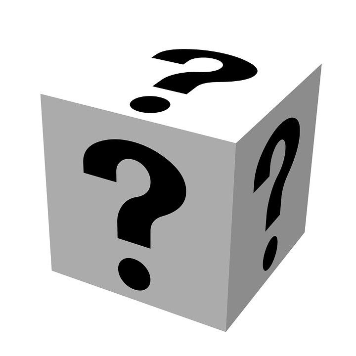 Cube with question marks