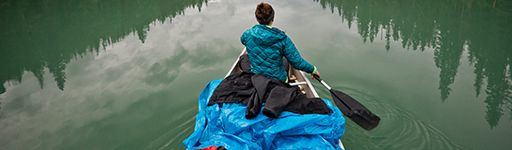 Paddling in a river