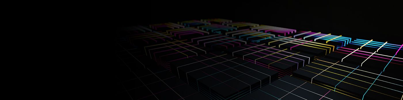 Digital cuboid boxes with coloured lines