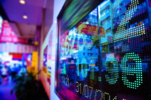 Electronic display of stock prices