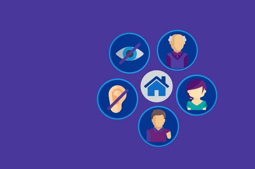 Disability and home care icons