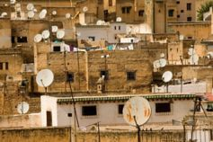 dish antenna building roofs