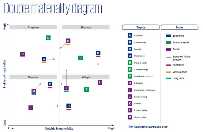 Double materiality diagram