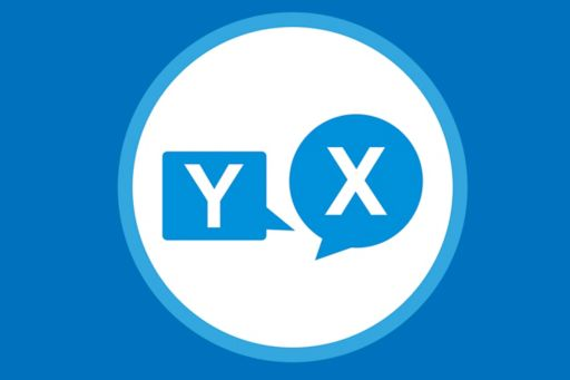 Illustration of speech bubbles with letters Y and X