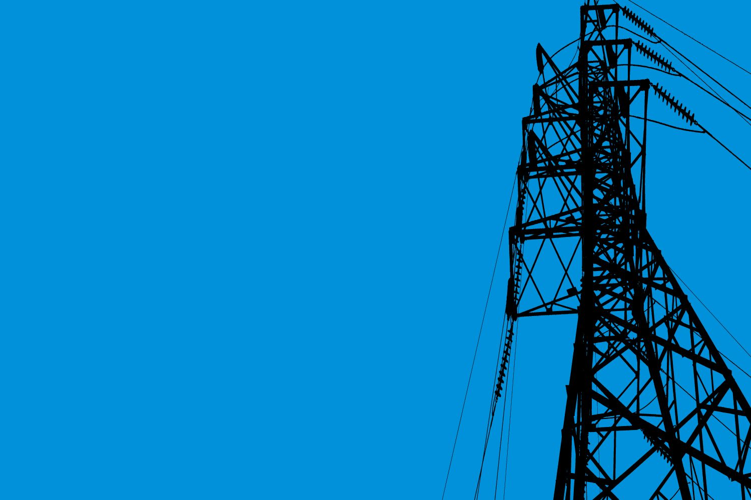 Electricity tower with blue sky in background