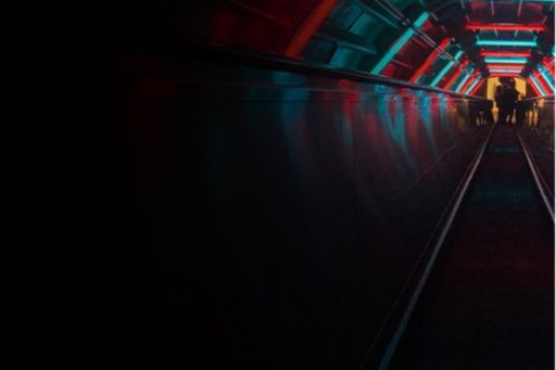 elevator-going-down-with-blue-red-lights-on