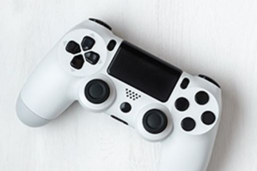 Gaming console with black keys