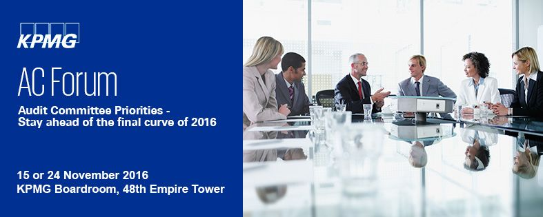 Audit Committee Priorities - Stay ahead of the final curve of 2016
