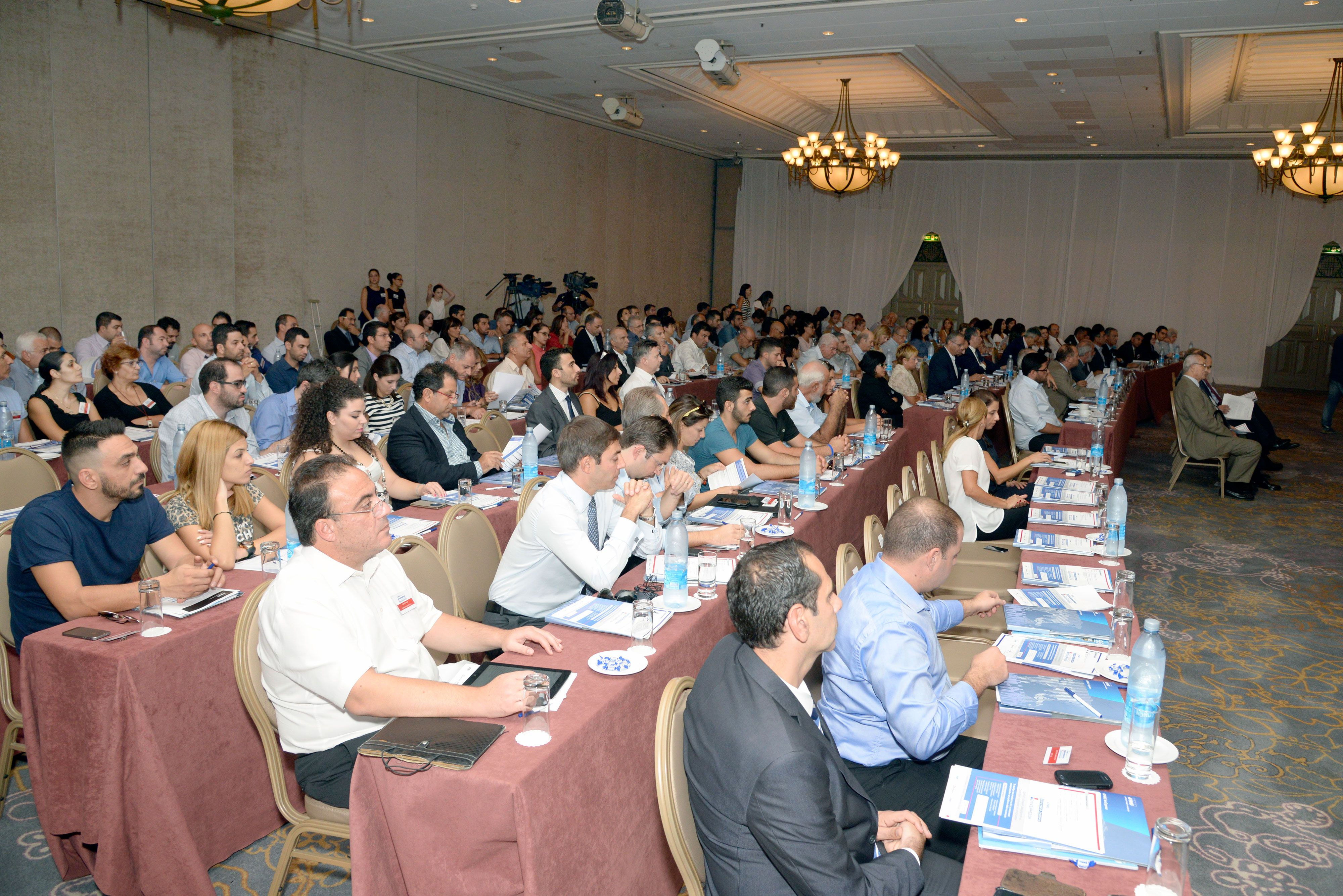 Attendees in conference