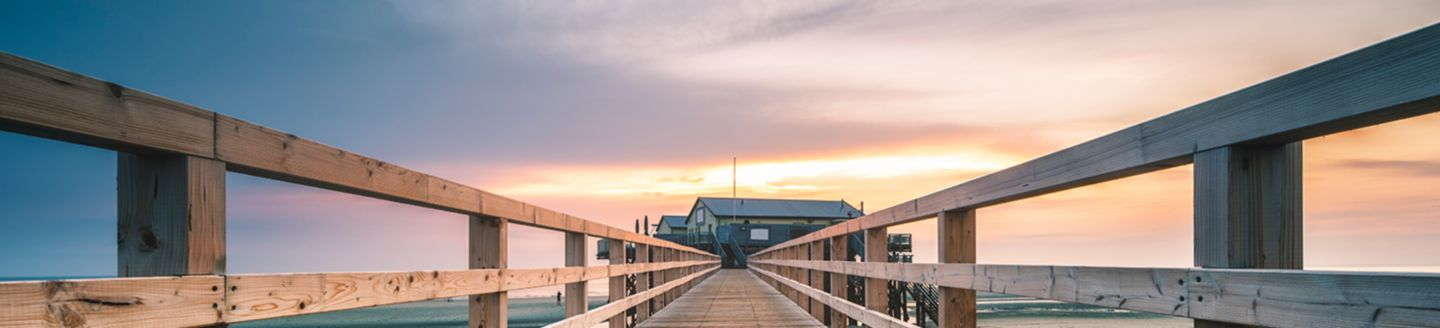Pier in the sunset.