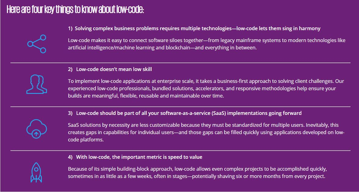 Four key things to know about Low Code