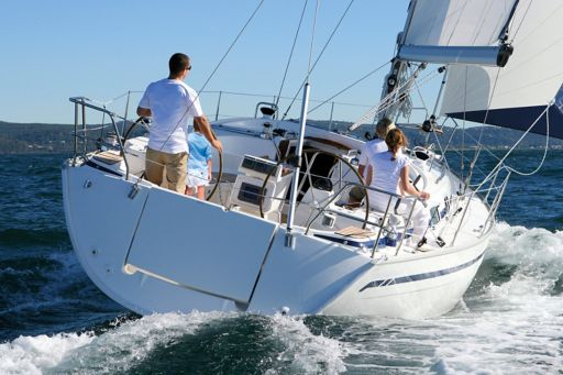 Four people on yacht