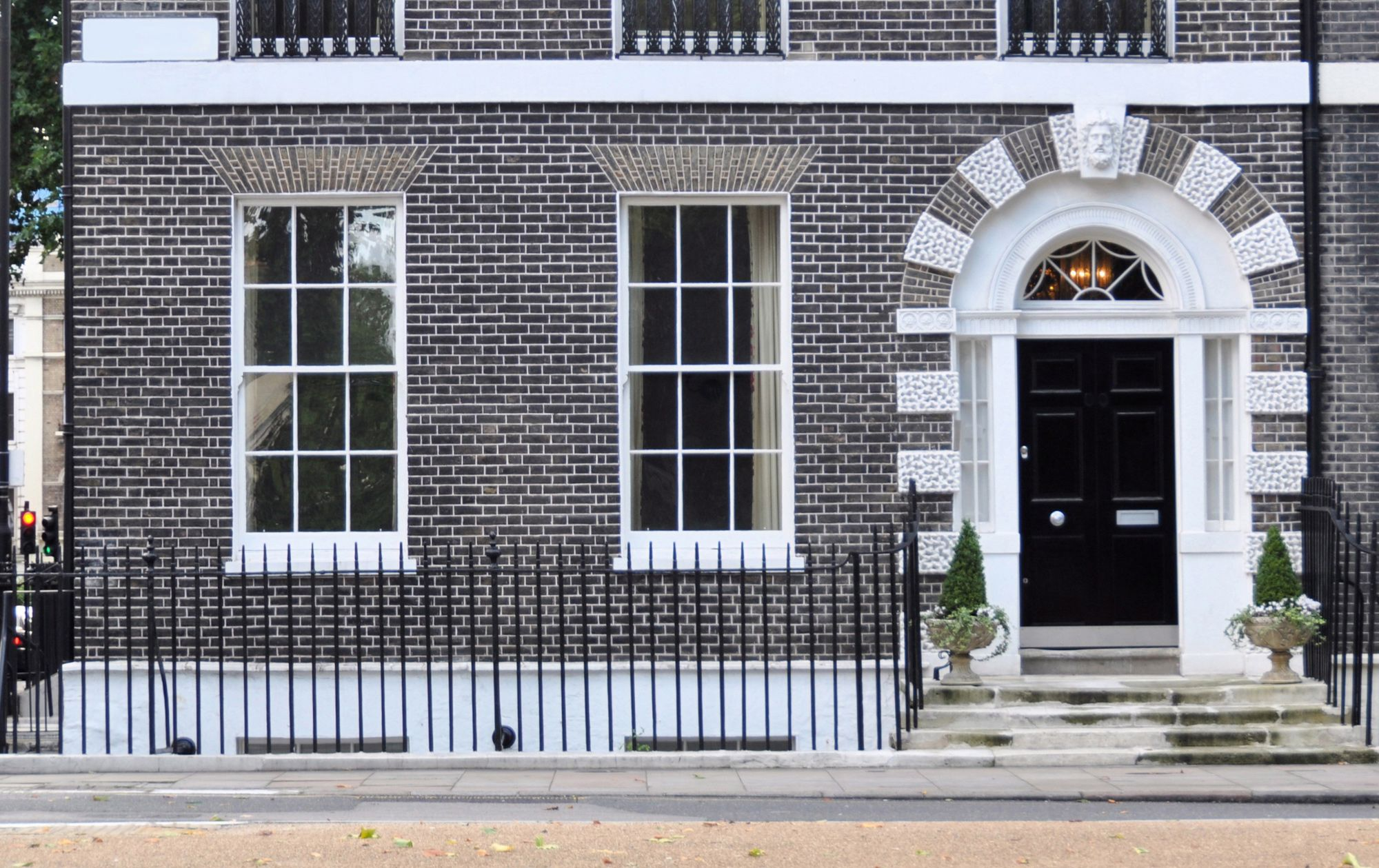 front facade of house in London
