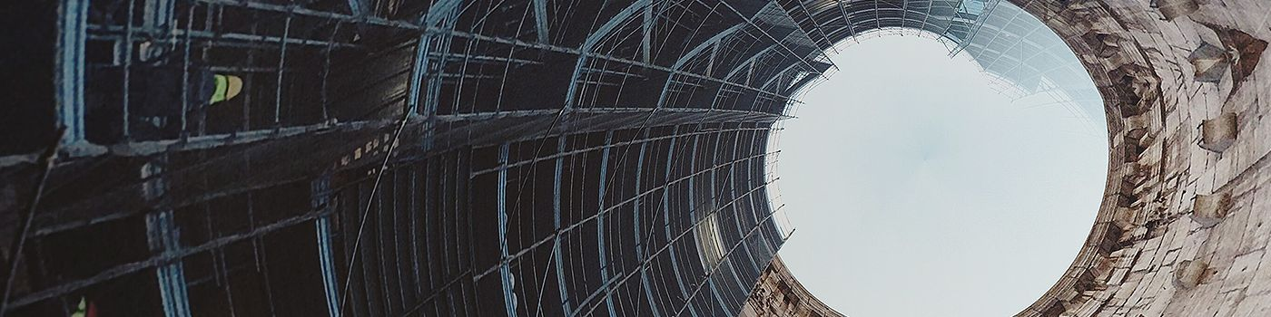 Scaffolding in round building