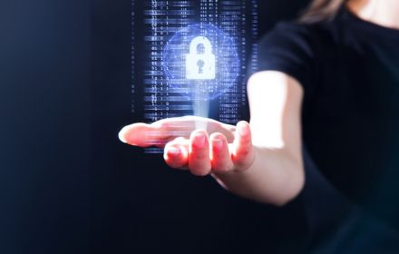 Gesture interface technology with privacy security padlock