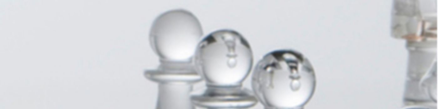 Glass chess pieces