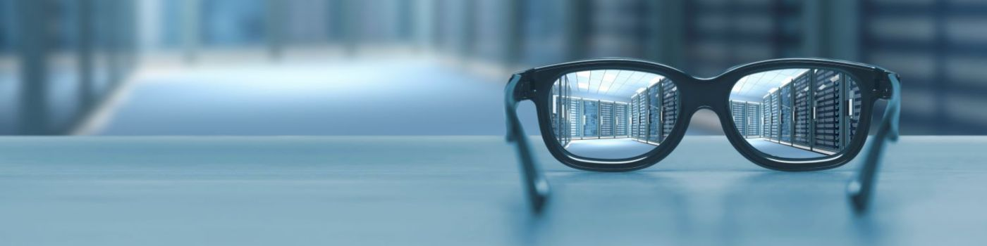 Glasses on top of table with blur background