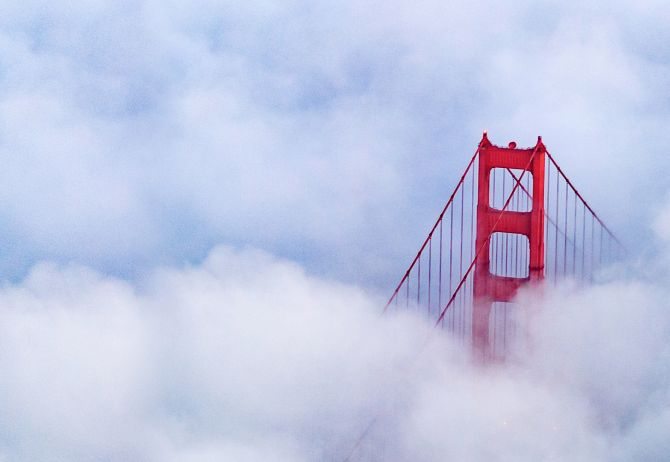 Climate in the annual report - golden-gate-bridge-amidst-clouds