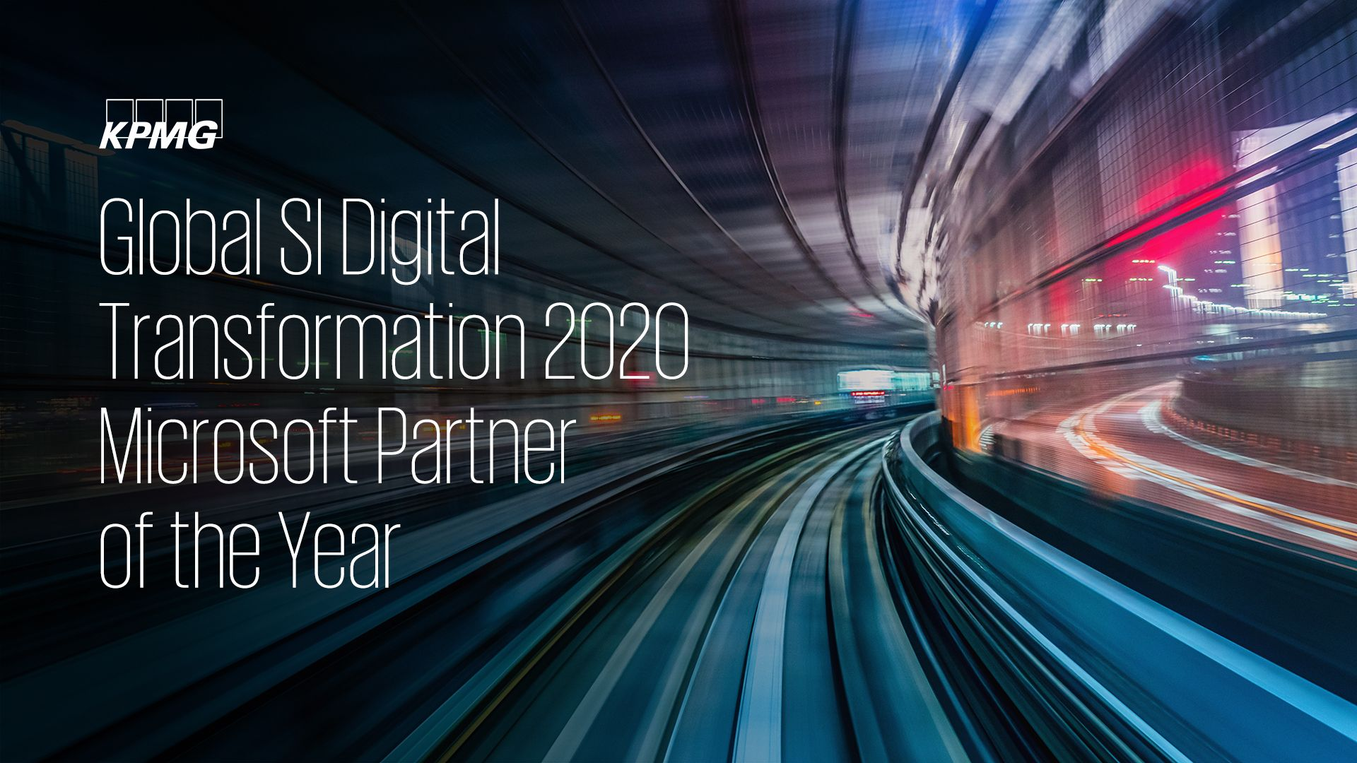 kpmg global si digital transformation 2020 microsoft partner of the year