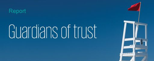 Guardians of trust - text overlay on banner