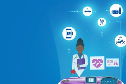 Receive the latest insights on the future of mobility straight to your inbox - animation doctor surrounded by icons