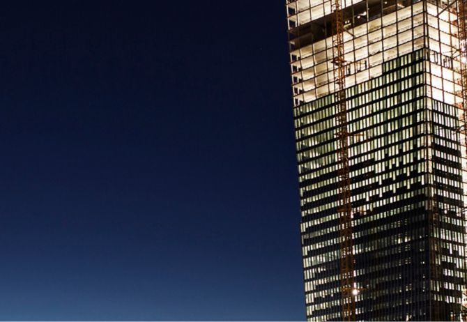 highrise with light
