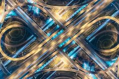 blue and yellow highway at night as a symbol for Transfer Pricing Services