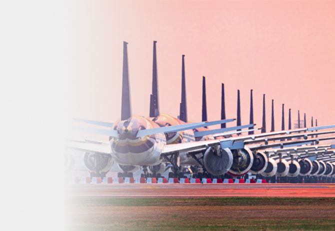 Row of planes