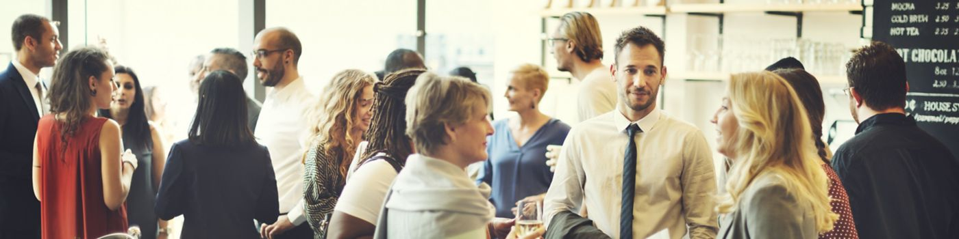 Group of people at networking event