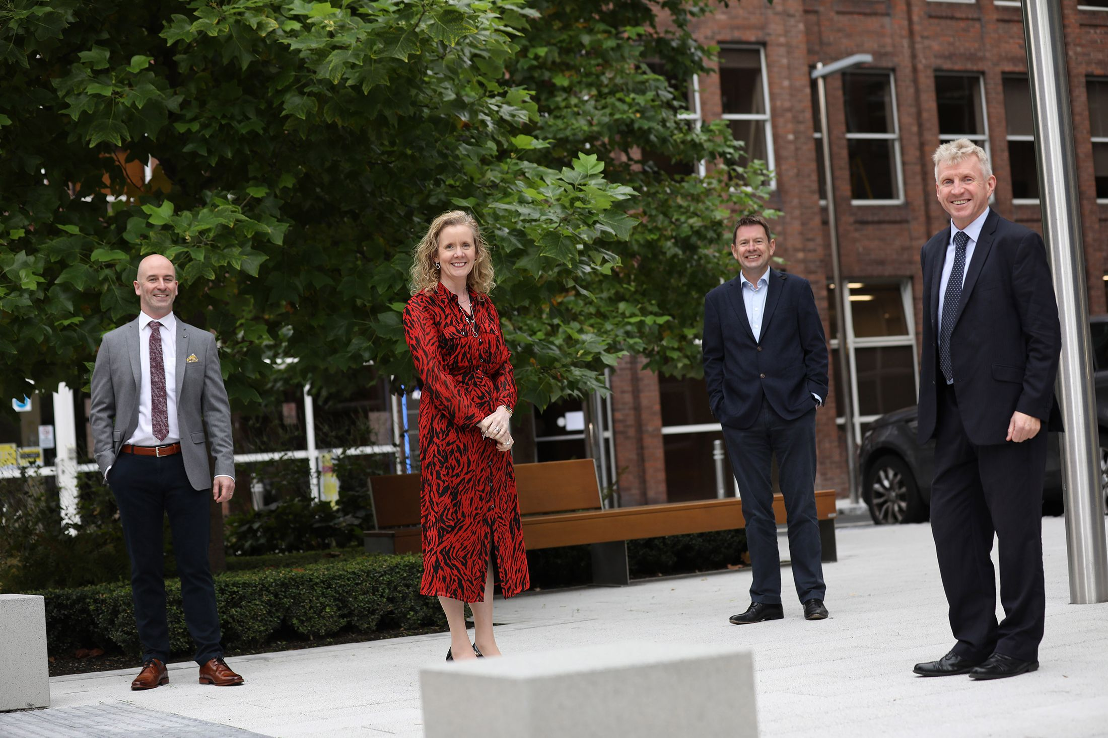 Pictured at the announcement of KPMG's acquisition of Future Analytics Consulting were (L to R) Stephen Purcell, Founder, Future Analytics Consulting; Michele Connolly, Partner, KPMG; Seamus Hand, Managing Partner, KPMG; and Professor William Hynes, Founder, Future Analytics Consulting.