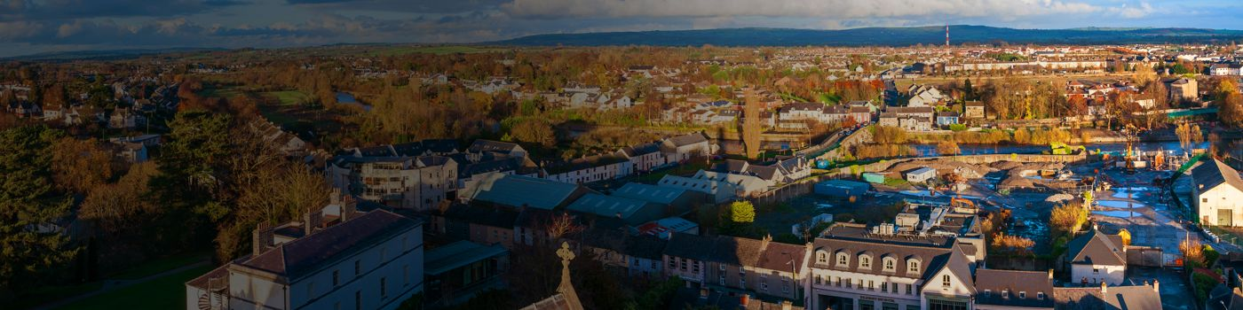 Irish town seen from above