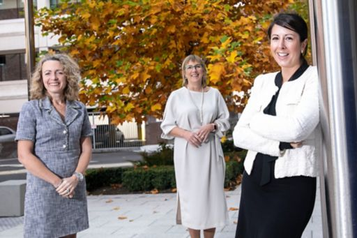 Pictured at the launch of the 13th cycle of the Going for Growth programme are, left to right: Olivia Lynch, Partner, KPMG; Julie Sinnamon, CEO Enterprise Ireland;  and Sonia Neary, CEO of Wellola and former Going for Growth participant