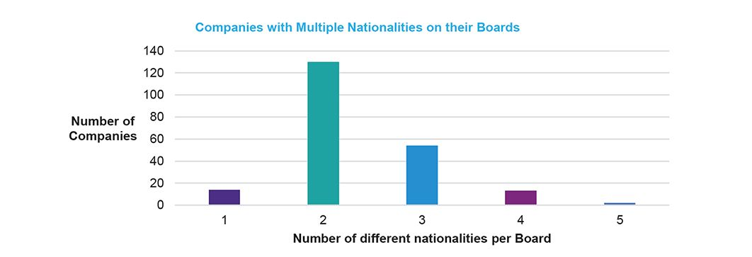 Board composition - nationalities of directors
