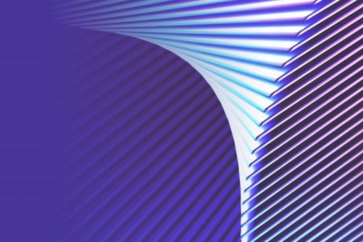 Abstract image of white lines on purple background