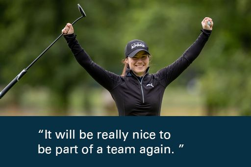 leona Maguire quote It will be really nice to be part of a team again