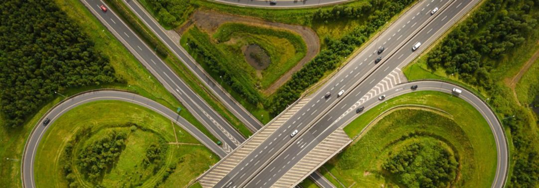 Motorway from above