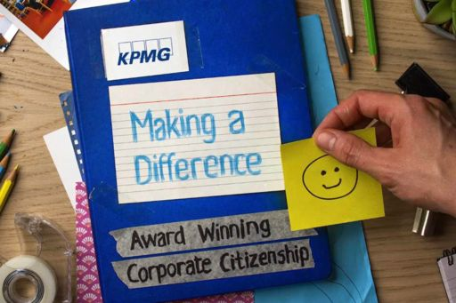 """Photo of KPMG's """"Making a difference"""" report"""
