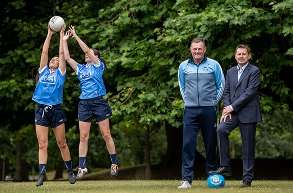 Mick Bohan, Manager, Dublin Senior Ladies Football Team with Seamus Hand and Sinéad Aherne