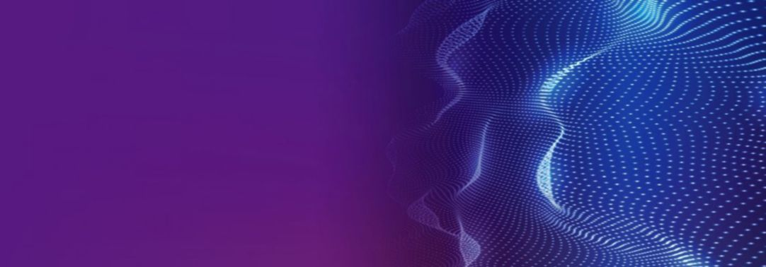 Abstract image of blue mesh on purple background