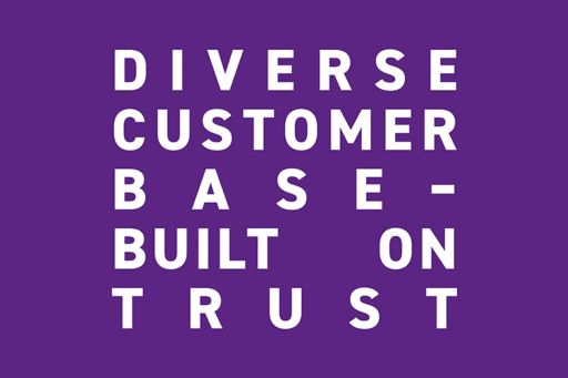 How did a diverse customer base built on trust save the day?