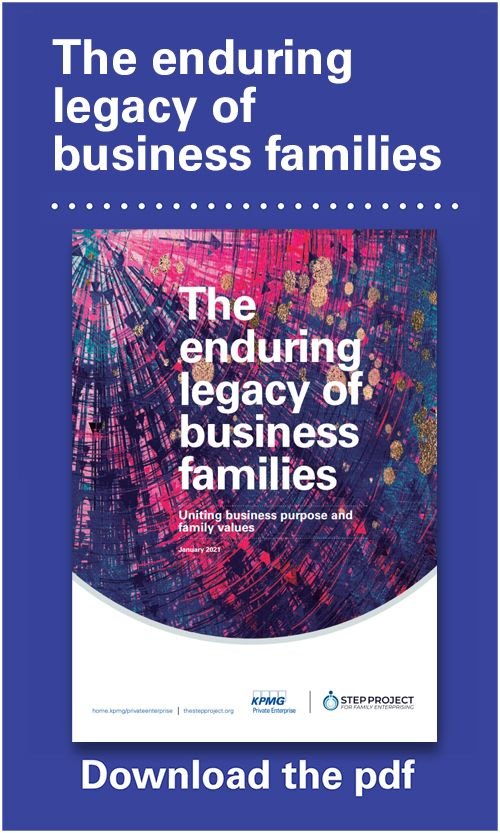 The enduring legacy of family business: Uniting business purpose and family values - PDF download