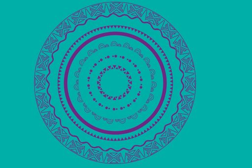 Indigenous Australia circle design