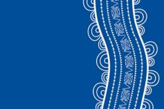 Indigenous Australia line design – blue and white