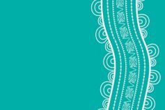 Indigenous Australia line design – teal and white